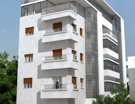 דירת גן מדהימה בבניין לשימור מדהים ביופיו